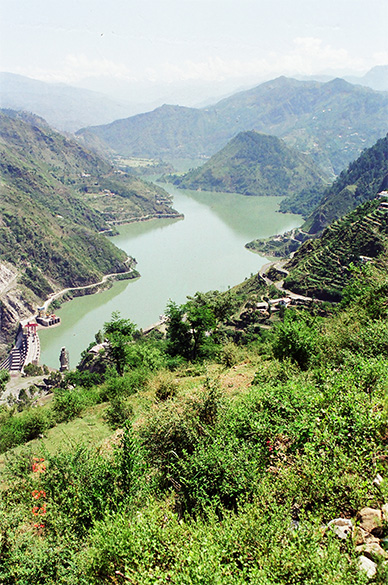 This is Chamera Dam on Bhadrakali Lake, enroute from Dalhousie to Chamba.