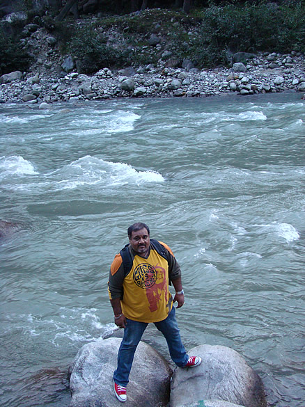 BEAS, roaring its way down between rocks and human obstacles