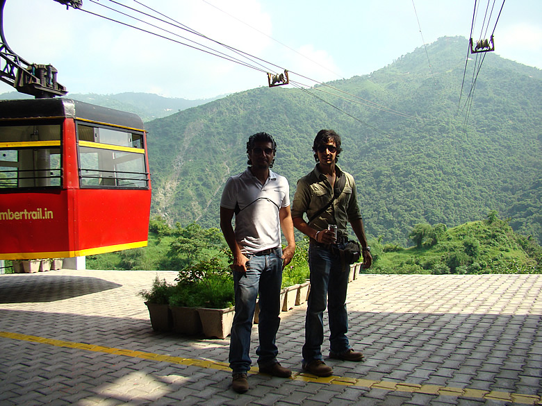 At Timber Trail Parwanoo. This is about an hour`s drive from Chandigarh. Ropeway to hill point from where beautiful view. If can must stop and have chai pakoras there.