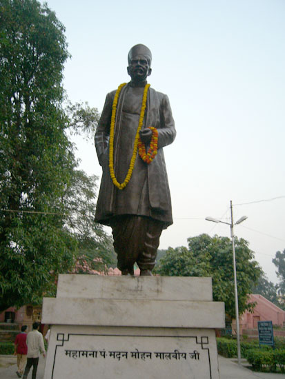 Visit the Benaras Hindu University campus. It was founded by freedom fighter Pandit Madan Malaviya whose picture you see. It provides residential educational facilities in a host of disciplines from Sanskrit studies and theology to rocket, missile, and ceramic engineering-----to tens of thousands of students. The university also has a museum, Bharat Kala Bhavan, with nearly a lakh exhibits including a rich collection of Indian miniature paintings, sculptures etc.