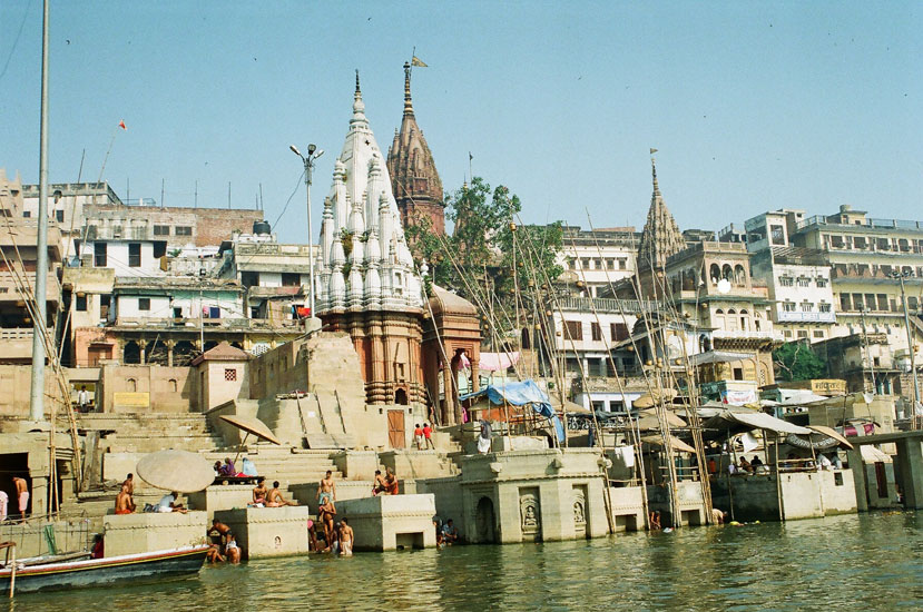 Another picture of temples on the banks of the Holy Ganga. For more read Travelogue.