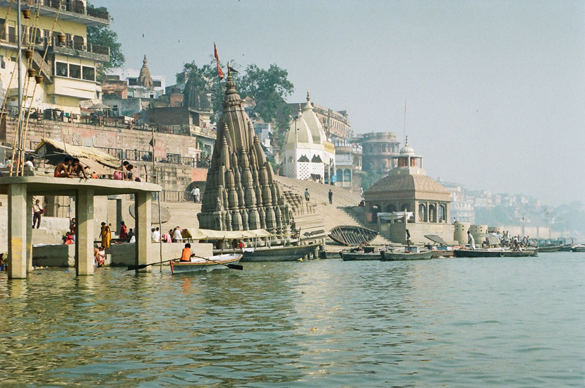 You see a temple i.e. in the water and tilting. We went for a boat ride in the evening as well. Doing Kashi at the fag end of the trip left us with little energy and time to experience the city. We hope to go there again.