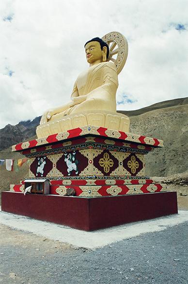 Statue of Lord Buddha, Rangrik village near Kaza.