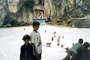 Inside the cave, watch the Nataraja statue in the background