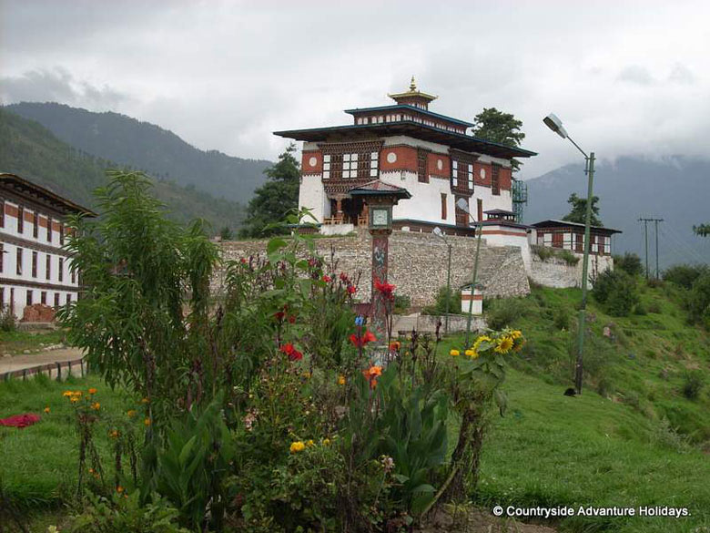 U see a monastery in Thimpu. Best time to do trek is April-May and October. Mount Chomolhari is the most sacred mountain in Bhutan & called the ``Mountain of the Goddess``.