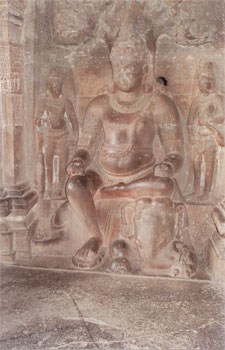 This sculpture shows God of Wealth, Matanga, seated on an elephant.