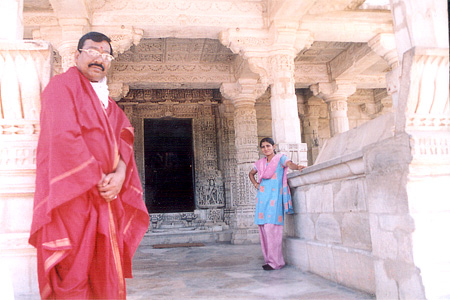 Temple entrance. In red is Pandit Jayantilal Sharma main pandit of the temple. His number is 9352007414. Request him to take you around the temple; I can assure you he will make a difference. Since we had seen him on some TV channel could recognize him instantly.