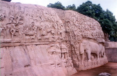Another view of the bas-relief.