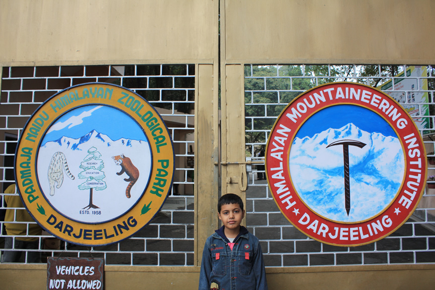 Darjeeling is known for the Himalayan Mountaineering Institute. You see entrance to the institute and the Geological Park. You can go to Darjeeling by toy train as you will see or drive from Siliguri (5 hours) Visit photographers site <a target=_blank href=http://www.webbingsystems.com>www.webbingsystems.com</a> to know more about his work.