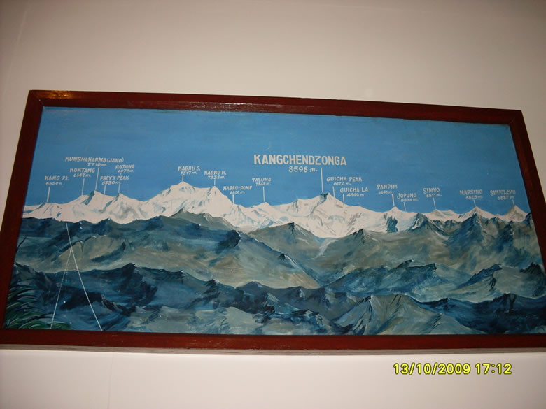 We could not go to Kanchanganga but could click this board for u that gives details of mountain ranges. This picture is by Nirav Dalal.