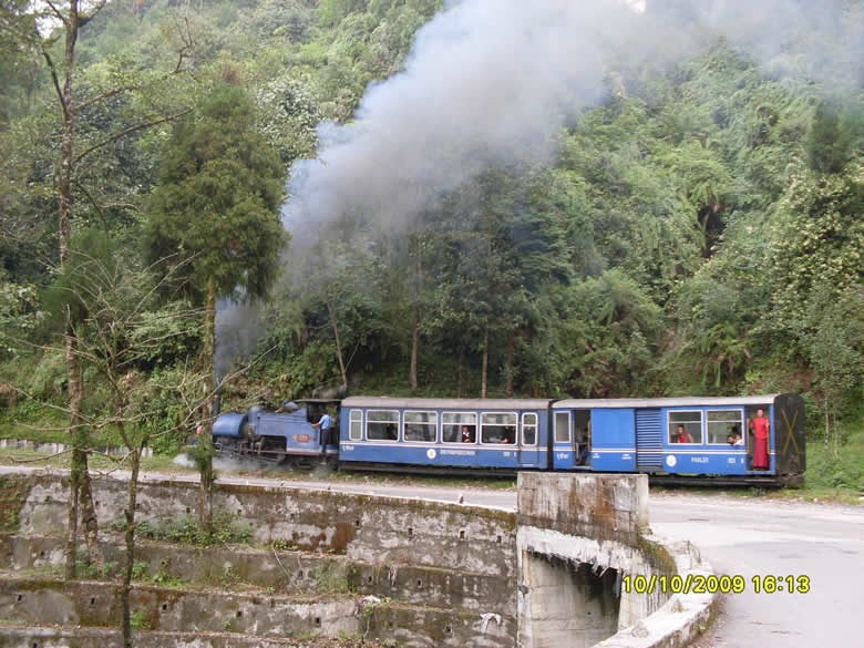 Toy train from Siliguri to Darjeeling. If u have the time take the train, is once in a life time experience. Only this picture is by Nirav Dalal.