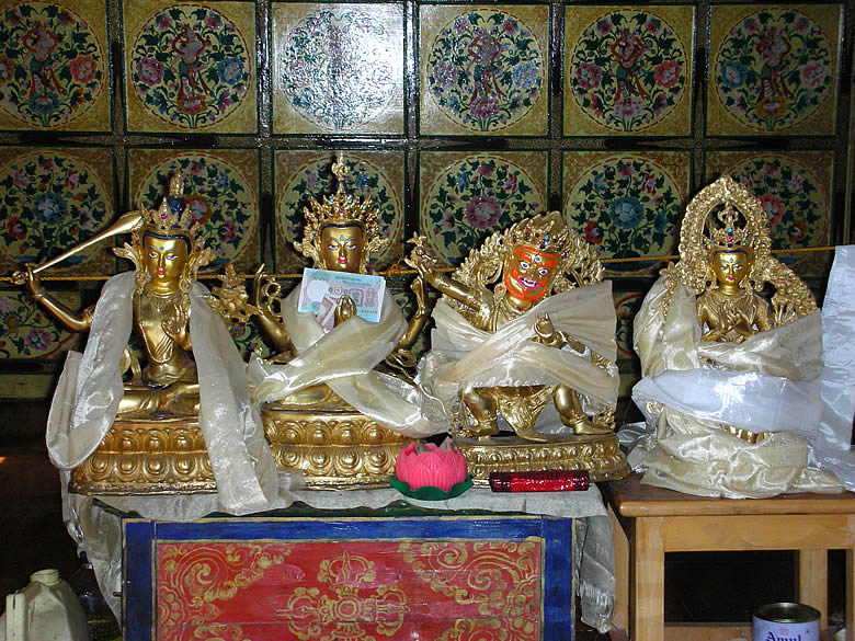Buddhist deities - 1.MANJUSHREE-the diety of Wisdom 2.AVALOKITESSVARA-the Bodhisatvva of compassion 3.VAJRAPANI-the diety who represents all wrathful dieties 4.MAITREYA-the future Buddha
