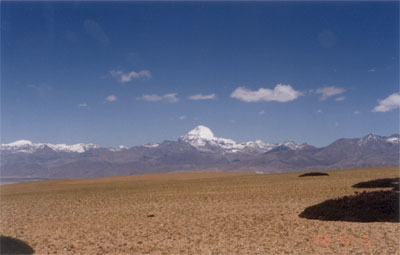 In the background is Mount Kailash. Notice it stands majestically amongst smaller peaks. My biggest mistake during the trip was not clicking a close up of the holy mountain.