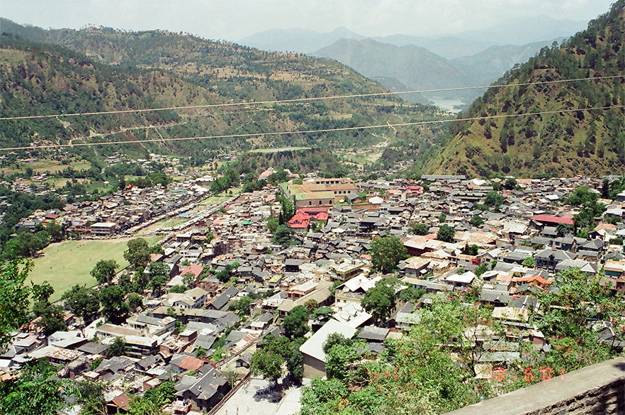 An Overview of Chamba Valley from the temple top.