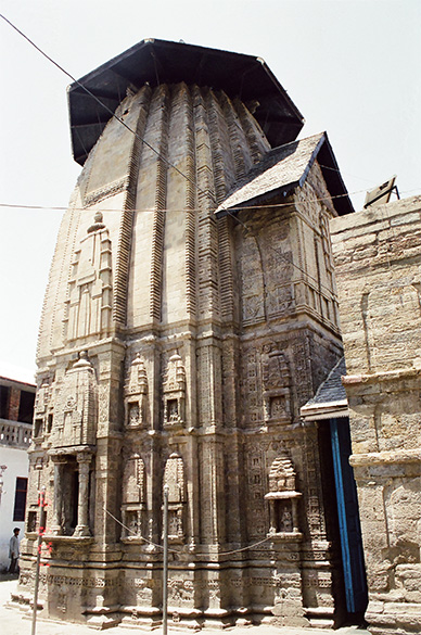 Side picture of Lakshmi Narayan Temple.