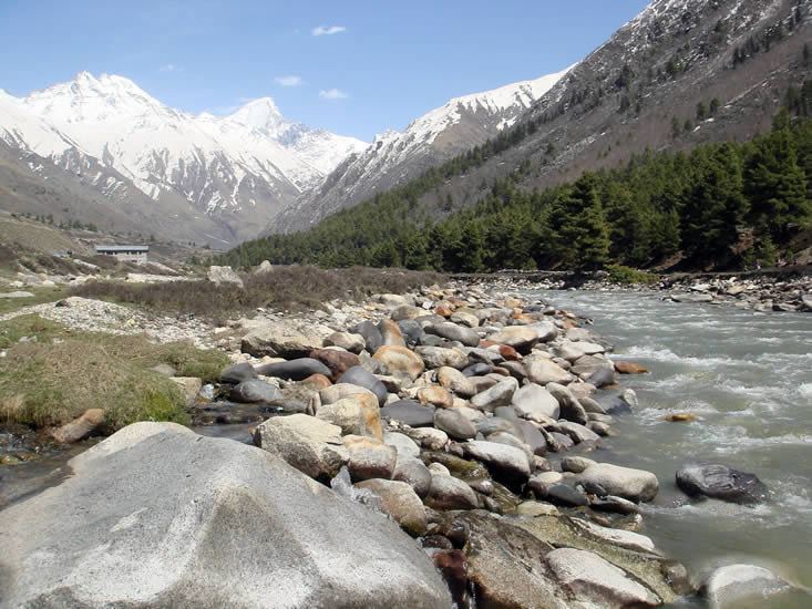 Valley and Snow View at Chitkul