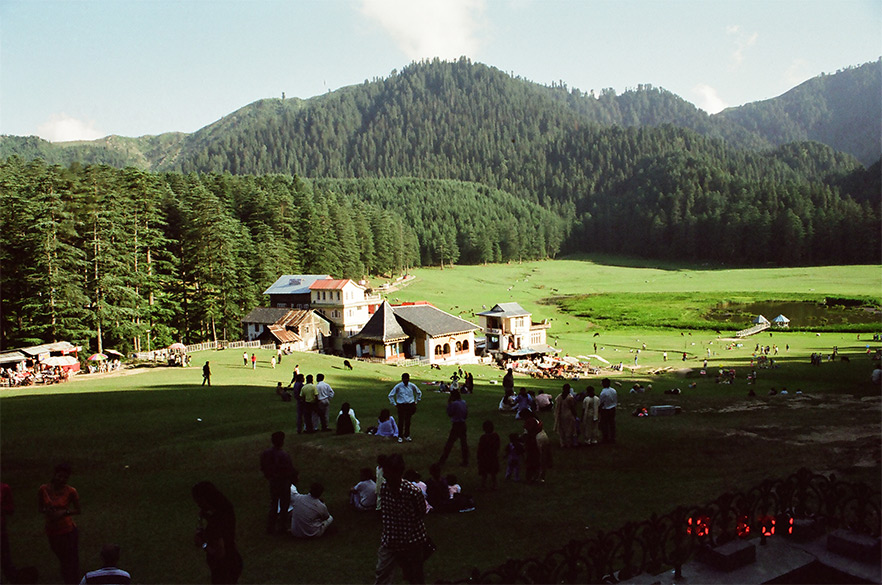 Welcome to Khajjar 1951 metres some 1- 2 hour drive from Dalhousie. Khajjar is a green top surrounded by trees. It is amongst the most beautiful places I have ever visited. Himachal Tourism have a hotel where you can stay.