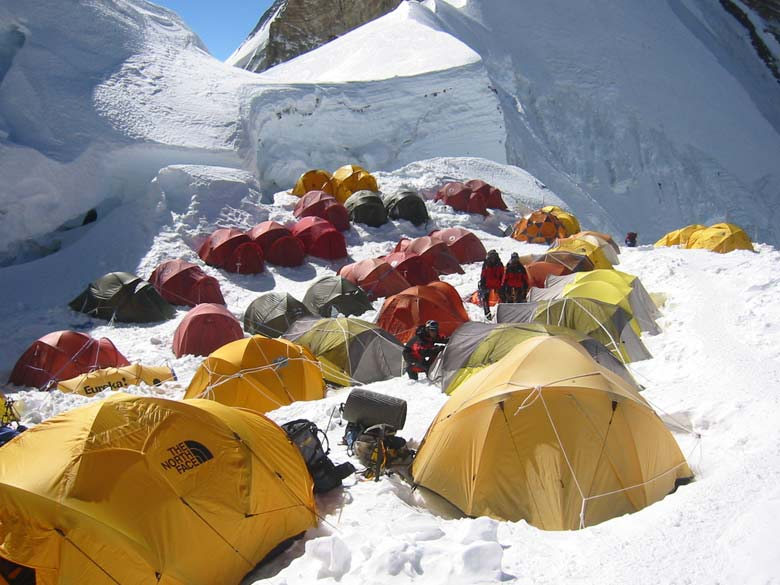 Tents at North Col 7000 metres.