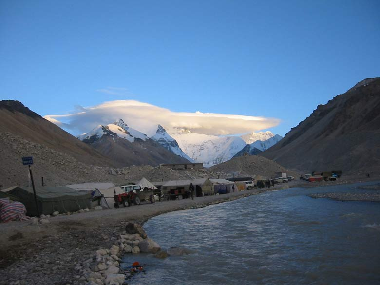 Another view of our camp close to the Everest. There are a total of sixty pictures of which first 50 pertain to Everest climb, the balance are of Tibet.