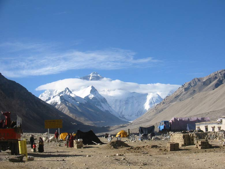 You get a clearer view of the Everest in the centre of the picture.