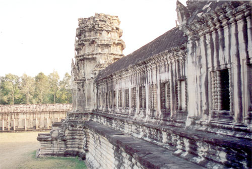 South gallery, Angkor Wat, with tower. Note the windows.