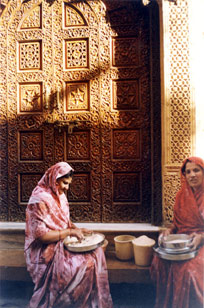 Jaisalmer Bylane - note the carving