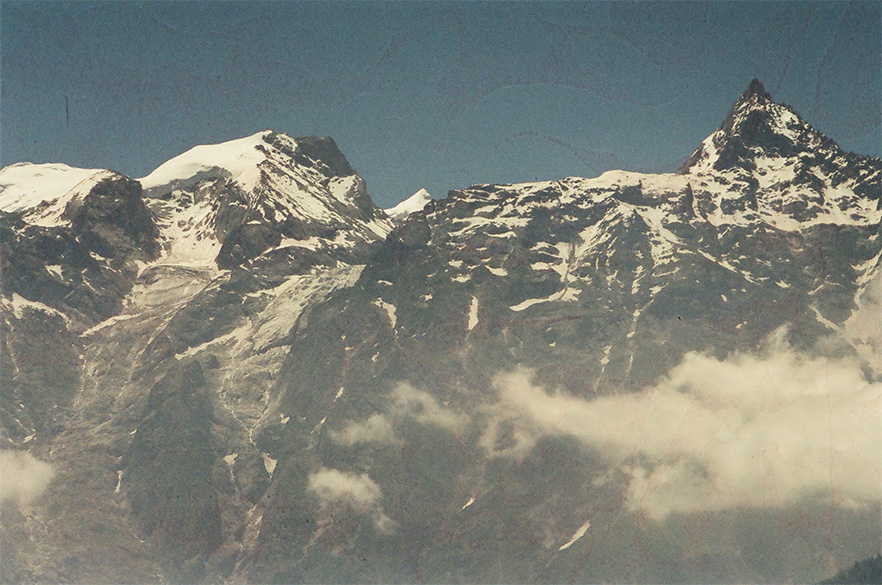 The Kinner Kailash Range. It is a short, exciting but difficult trek from Kalpa to the holy mountain.