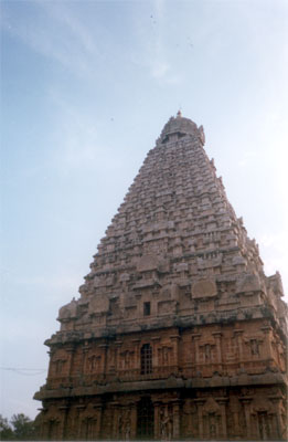 This was clicked from the western side. The lower portions of the structure have beautifully carved figures of gods.