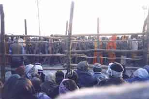 The Naga Sadhus in a procession