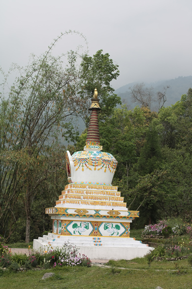 Stupa inside the Ranka Monastery.