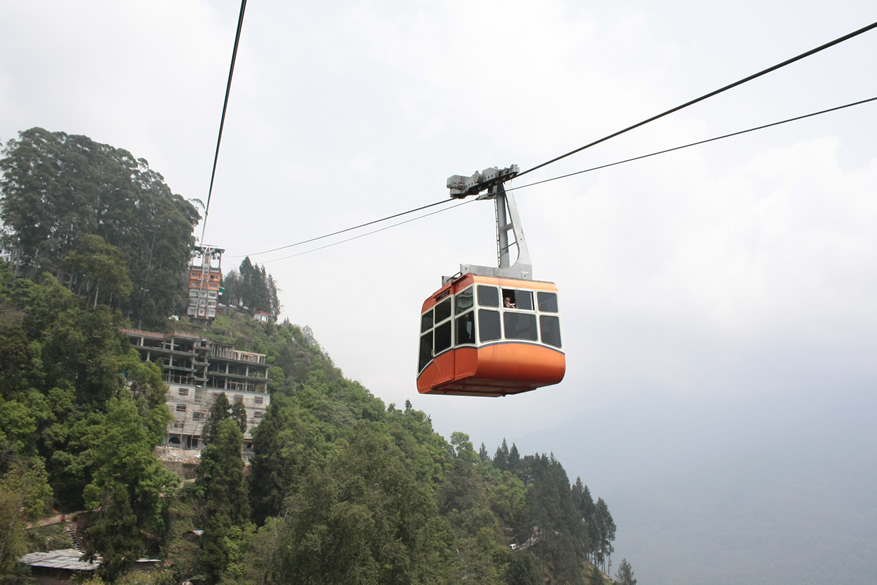 Gangtok town has a ropeaway that cuts across the town. It is a must do when u visit this hill city. Great view.