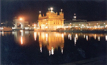 Hari Mandir at night