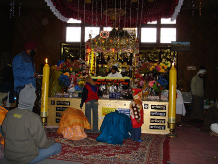 Inside the Gurdwara - picture of the Takht.