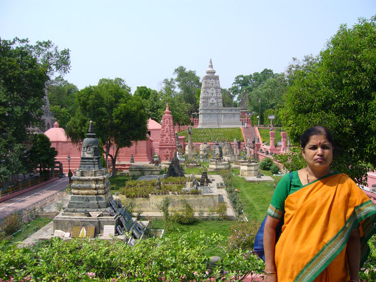 Inside the Maha Bodhi temple complex. Body Gaya is located in the state of Bihar whose name ``Bihar`` originated from ``Vihara`` meaning monasteries which abounded in Bihar