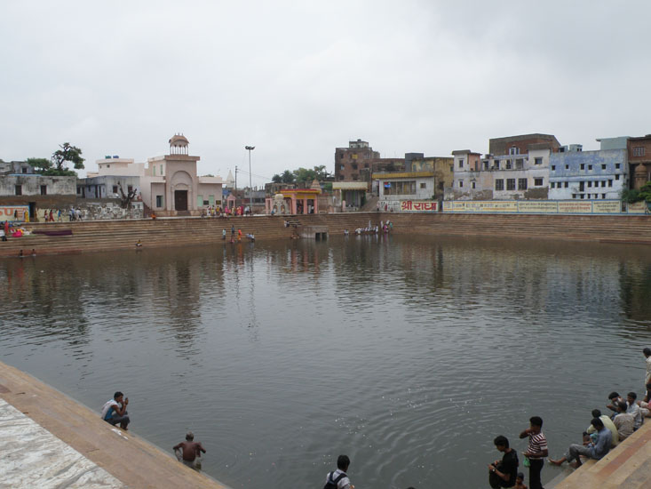 Part two of the parikrama is to holy Radha Kund that you see. Five hundred years ago the six Goswamis of 