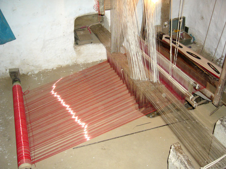 See the loom to get an idea of how the sarees are made. I am told saree making on a larger scale happens in the city.