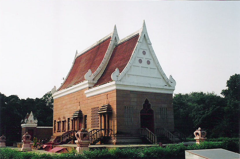 You see the Thai Buddhist temple.