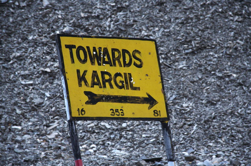 We head towards Kargil where the last Indo Pak war took place.