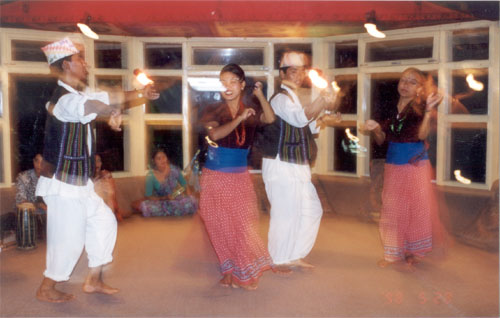 Local dancers in our hotel.