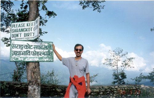 Sarangkot is a point very close to Pokara from where you get a very good view of the town.