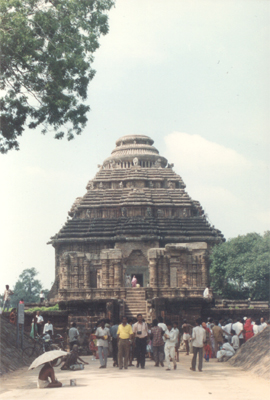 Entrance to Sun Temple Konark. The crowning glory of Oriyan temple architecture, the 13th century Sun temple also known as the `Black Pagoda`. Built by Raja Narasimha I of the Ganga dynasty, the temple is a pageant of human grandeur, in its perception, an
