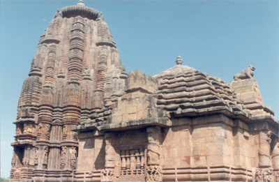 Rajarani Mandir (temple) is famous for its ornate deul or compass, decorated with some of the most impressive Oriya temple architecture. The temple is remarkable for the absence of any presiding deity. The temple s name is supposed to be derived from the