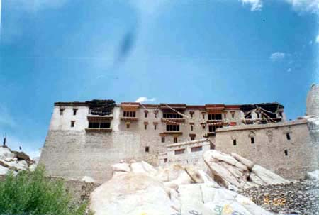 Shey Palace. This was the old capital of Ladakh. About 12-15 kms from Leh, is on the way to Thiksey monastery.