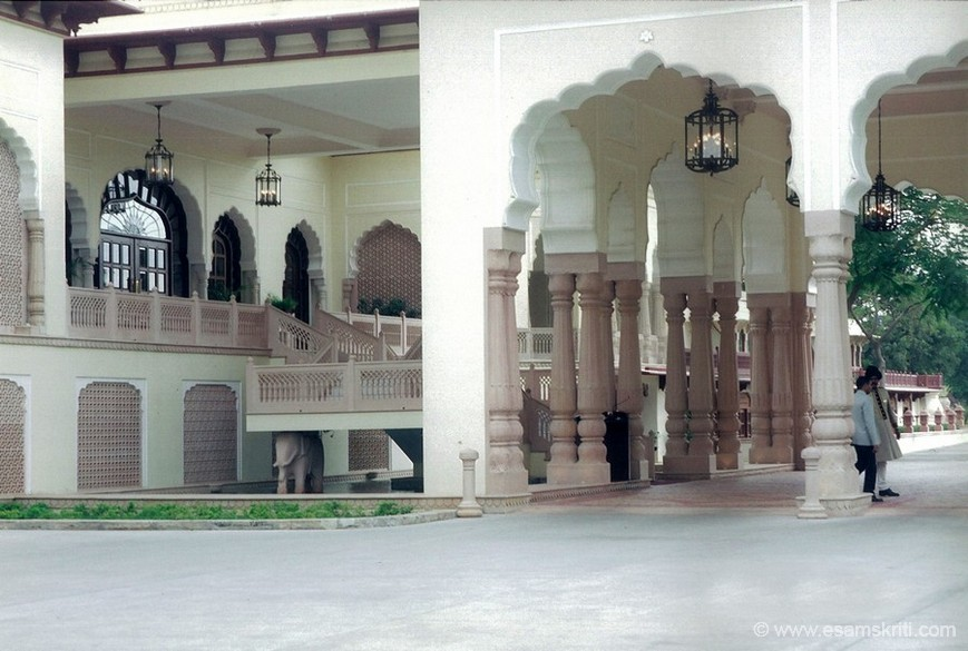 Another view of the Palace hotel. The Taj Group have maintained the palace very well.