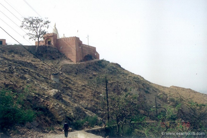 Surya Devta mandir stands on the top of the hill from where you get a great view of Jaipur, on a clear day you can see Nahargarh Fort. There are two ways to come to Galtaji. One is the longer route through forest that we came; another is a shorter one tha