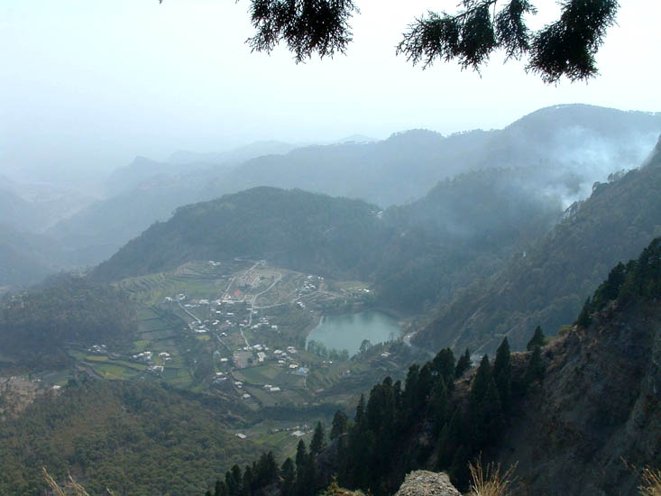 The khurpatal Lake viewed from one of the vantage points