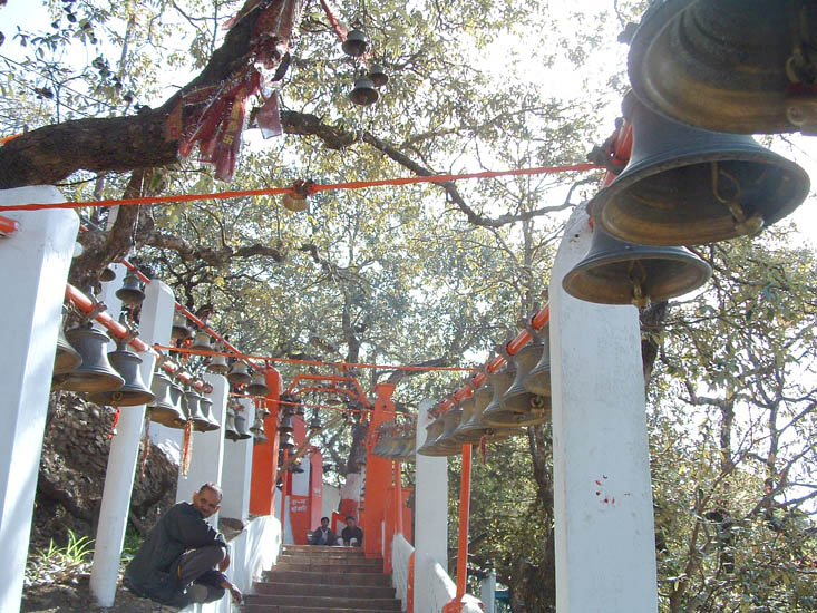 The steps to the Golu Baba temple