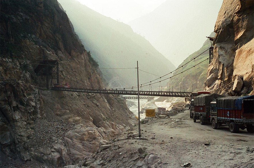 Enroute from Kalpa to Simla is the Shatrujeet Bridge one of the many made by the Indian Army, serves as the lifeline of Kinnaur.