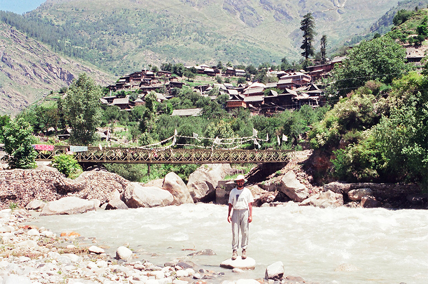 Overview of Sangla with Baya River flowing by it.