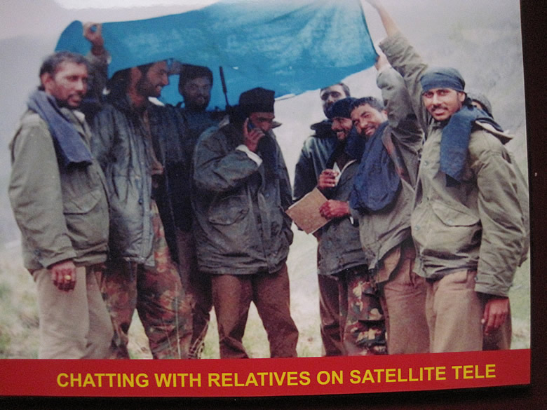 During the battle - connecting with families through Satellite phones